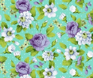 flowers, leaves, and pattern image