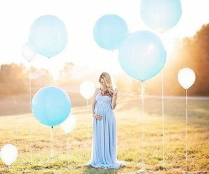 baby, blue, and pregnant image