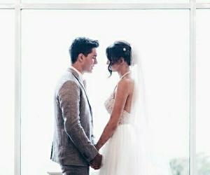 couple, wedding, and goals image
