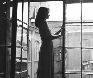 girl, photography, and window image