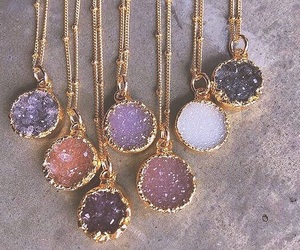 gold, purple, and jewelry image
