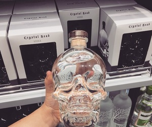 skull, skulls, and vodka image