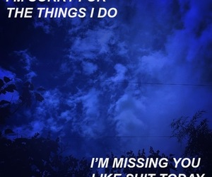 blue, miss you, and quote image