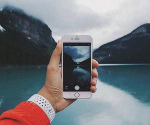 travel, lake, and photography image