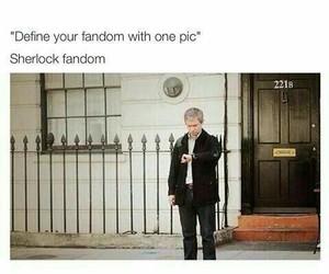 sherlock, fandom, and funny image
