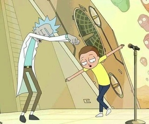 rick, rick and morty, and schwifty image