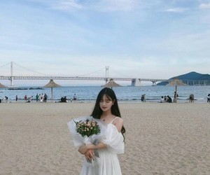 korean and beach image