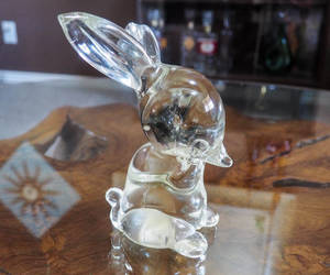 clear, rabbit lover gift, and etsy image
