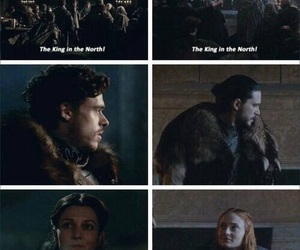 game of thrones, jon snow, and robb stark image