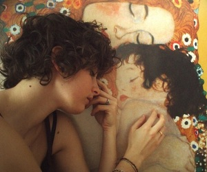 art, klimt, and painting image