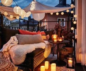 lights, balcony, and decor image