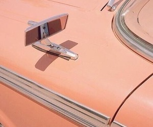 peach, aesthetic, and car image
