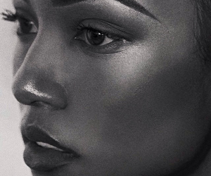 makeup, black and white, and model image