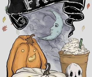 pumpkin, fall, and Halloween image
