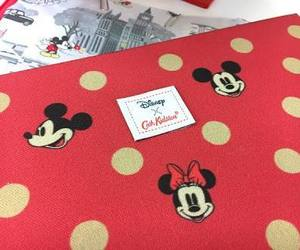disney, red, and mickey mouse image