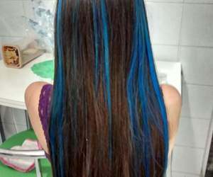 blue, hair, and colors image