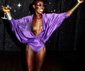 grace jones and party image