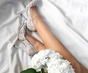 shoes, flowers, and white image