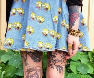 tattoo, grunge, and skirt image