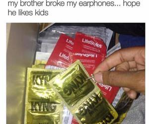 condom, funny, and kids image