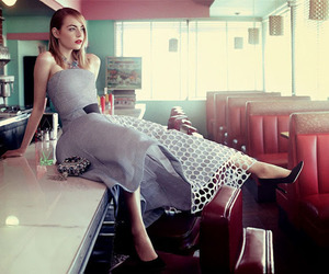 emma stone, vogue, and dress image