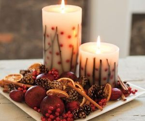 autumn, candle, and christmas image