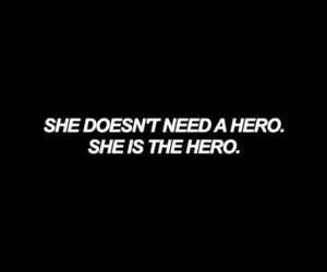 quotes, hero, and feminism image