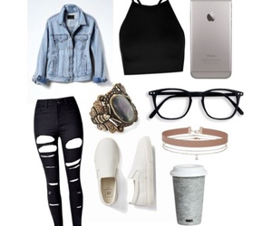 denim, Polyvore, and fashion image