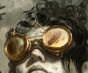 illustration, art, and steampunk image