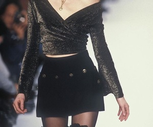 fashion, 90s, and runway image