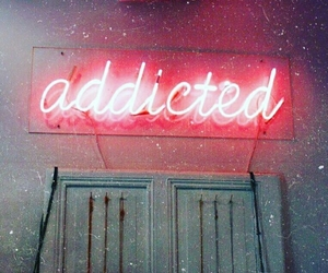 addicted, neon, and lights image