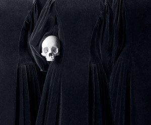 skull, black, and dark image