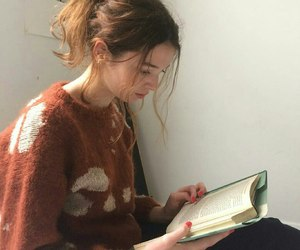 book, clothes, and girl image
