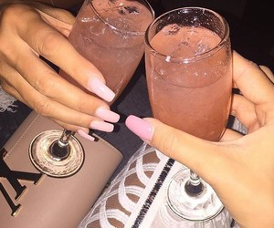 alcohol, pink, and drink image