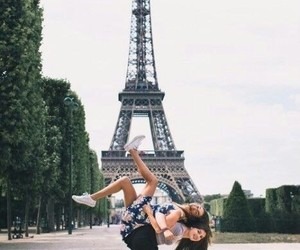 friends, paris, and bff image