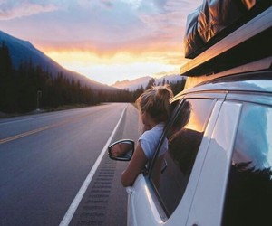 girl, freedom, and travel image