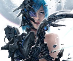 art, sci fi, and artwork image