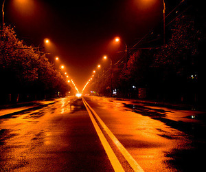 glow, road, and night image