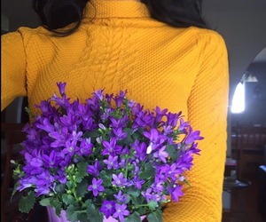 flowers, indie, and yellow image
