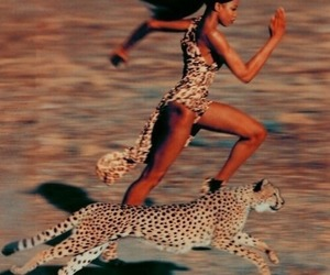 run, cheetah, and Naomi Campbell image