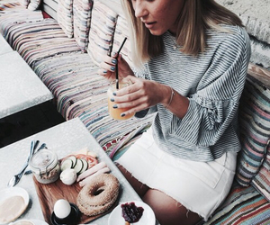girl, fashion, and food image