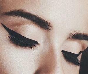 eyes, make up, and liner image