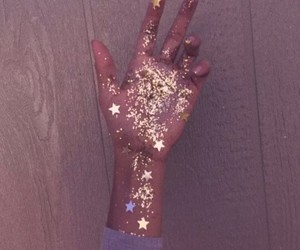 glitter, aesthetic, and hand image