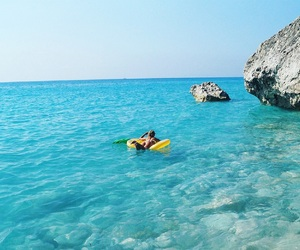 beach, Greece, and pineapple image