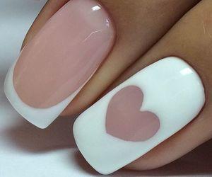 nail art, nails, and heart image