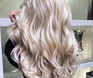 blonde, cool, and hair style image