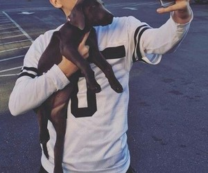 hayes grier and dog image