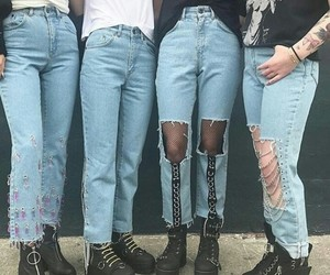 boots, inspiration, and jeans image