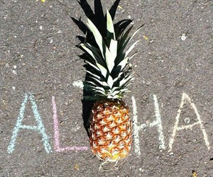 pineapple, chalk, and summer image