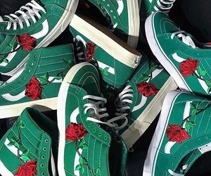 green, old skool, and rose image